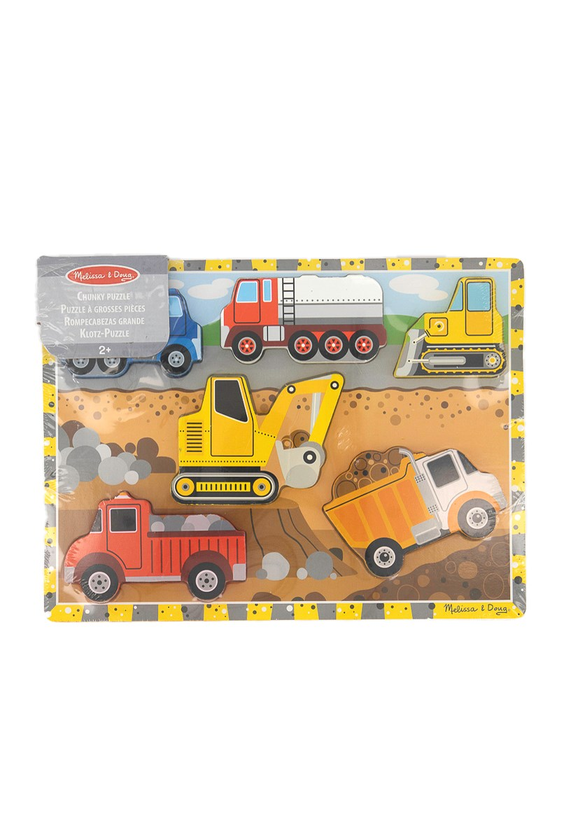 Construction Chunky Puzzle, Yellow Combo