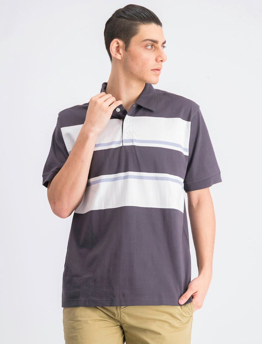 Men's Short Sleeve Polo Shirt, Grey