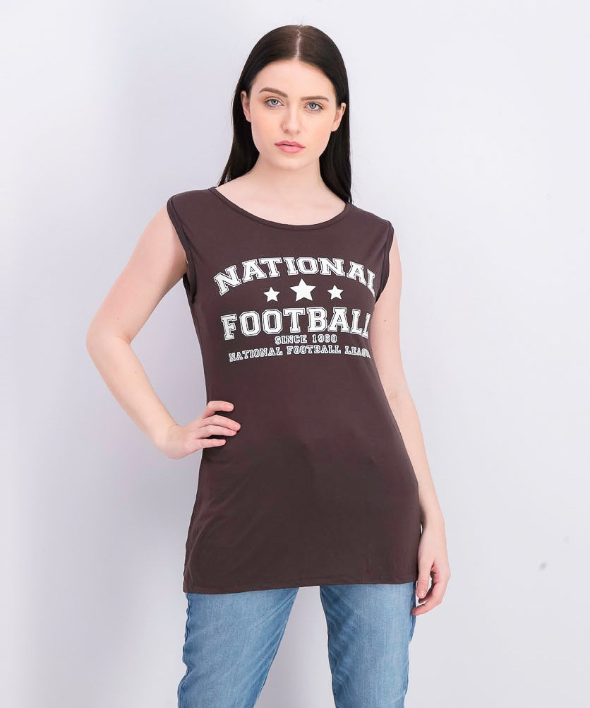 Women's Pullover Graphic Tops, Brown