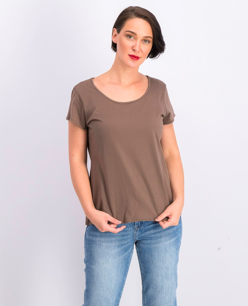 Women's Short Sleeve Tops, Brown