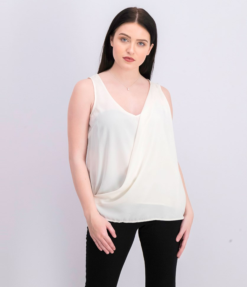 Women's Woven Top, Ivory