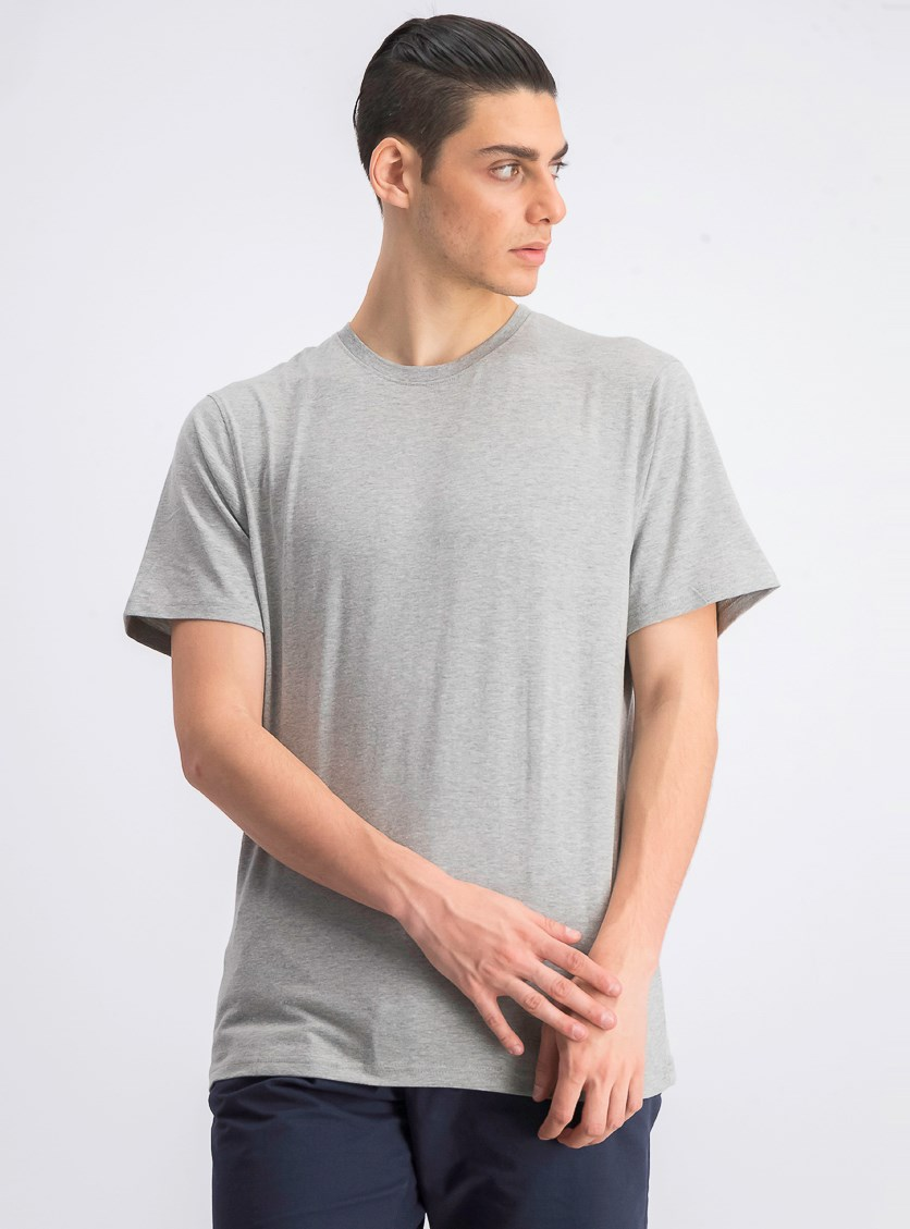 Men's Crew Neck T-shirt, Grey Heather