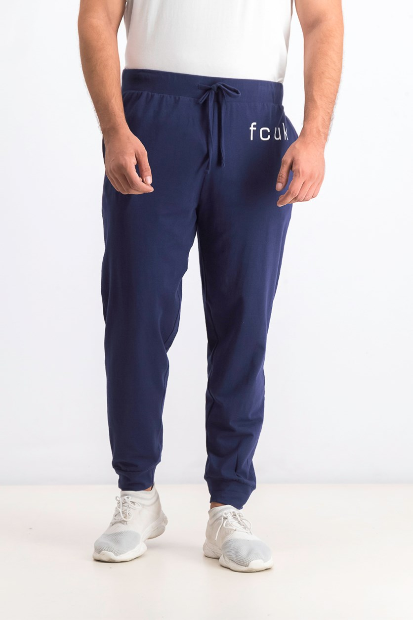 Men's Fcuk Graphic Jogger Pants, Navy