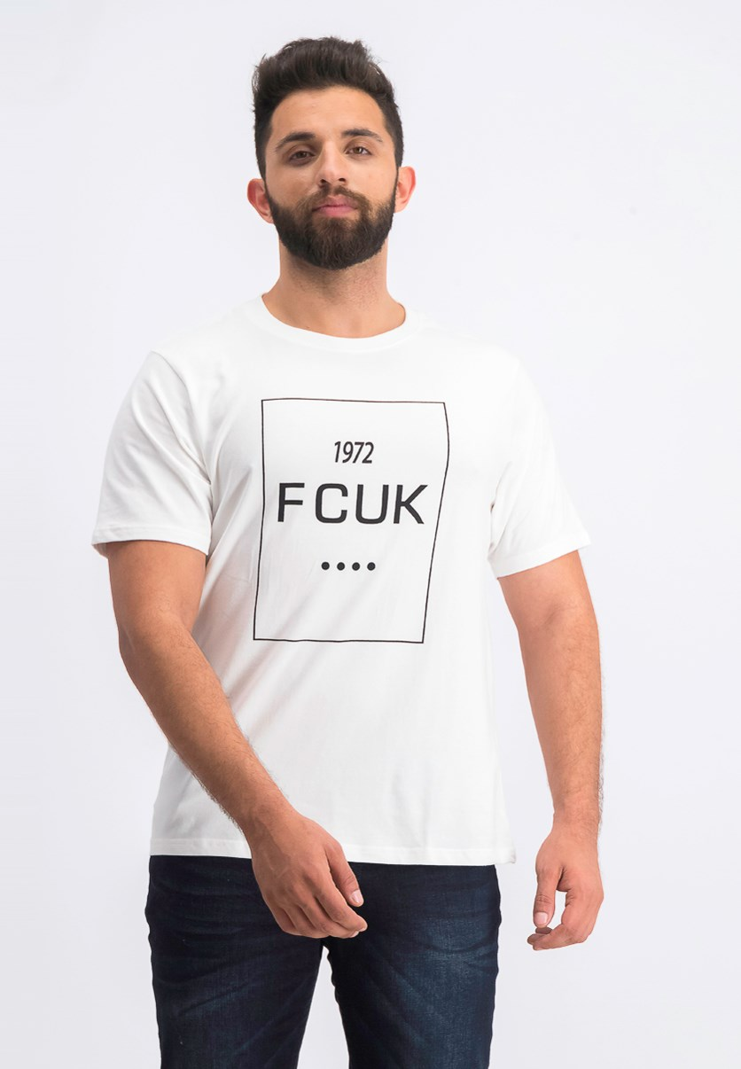 Men's Fcuk Printed Tee, White