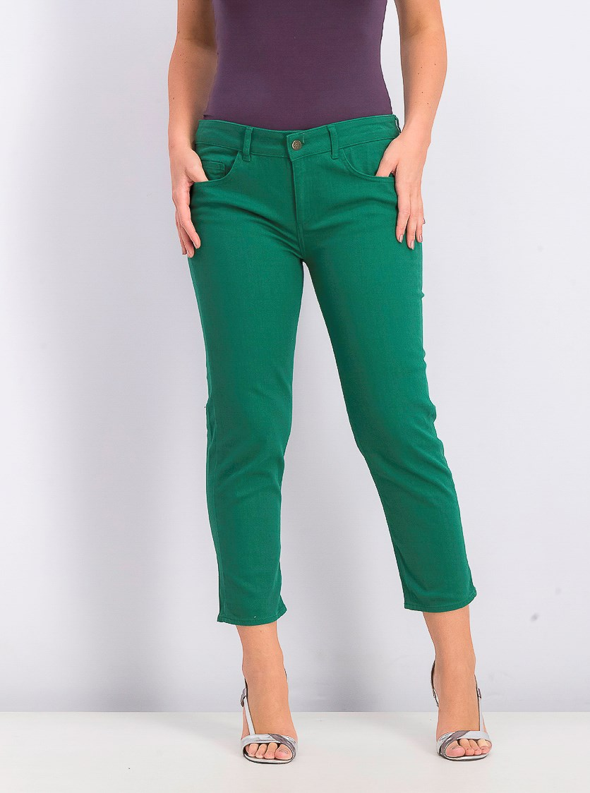 Women Pull-on Pants, Green