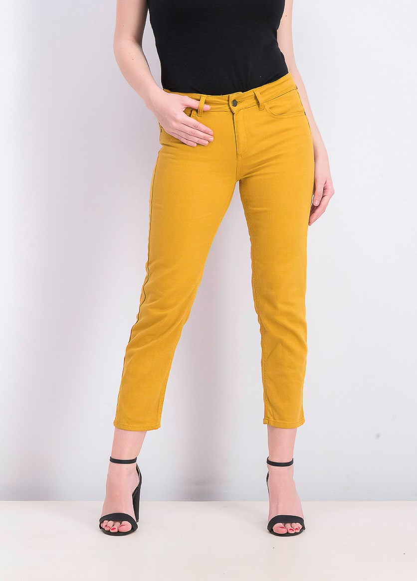 Womens Ankle Cut Pants, Squash