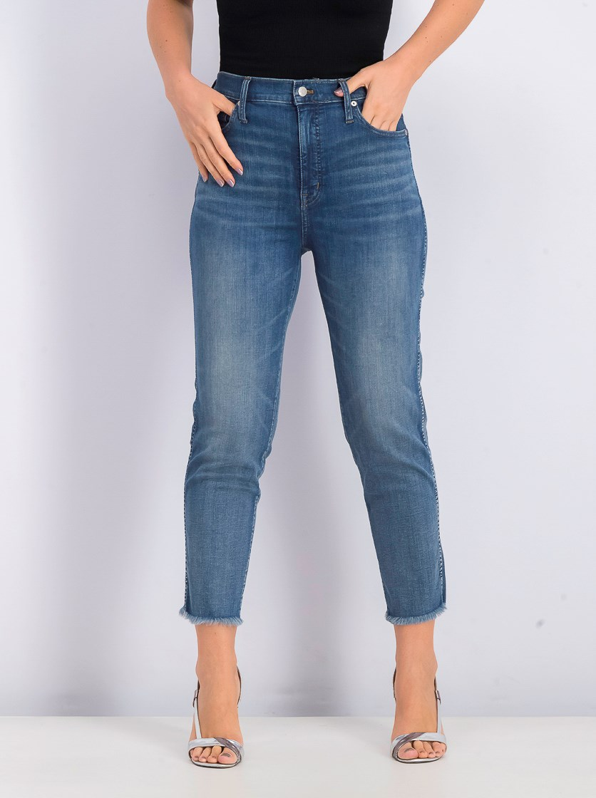 Women's Stovepipe Jeans, Washed Blue