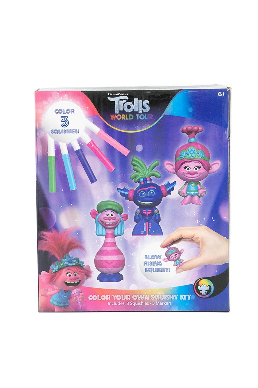 Color Your Own Squishy Kit, Pink/Blue Combo