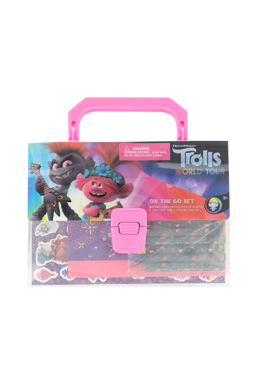 Trolls Sketch Pad On The Go Set, Pink Combo