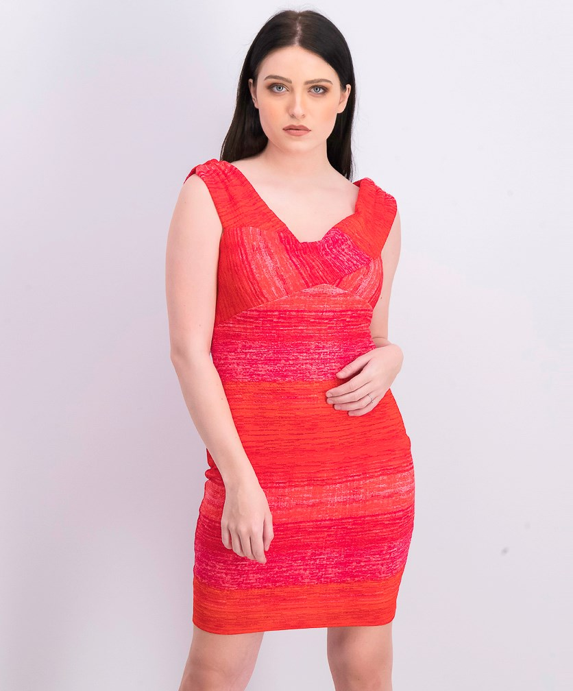 Women's Danna Ribbed Bodycon Dress, Red