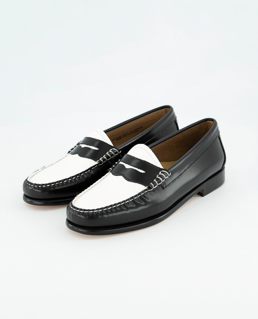 Whitney Colorblock Weejuns, Black/White