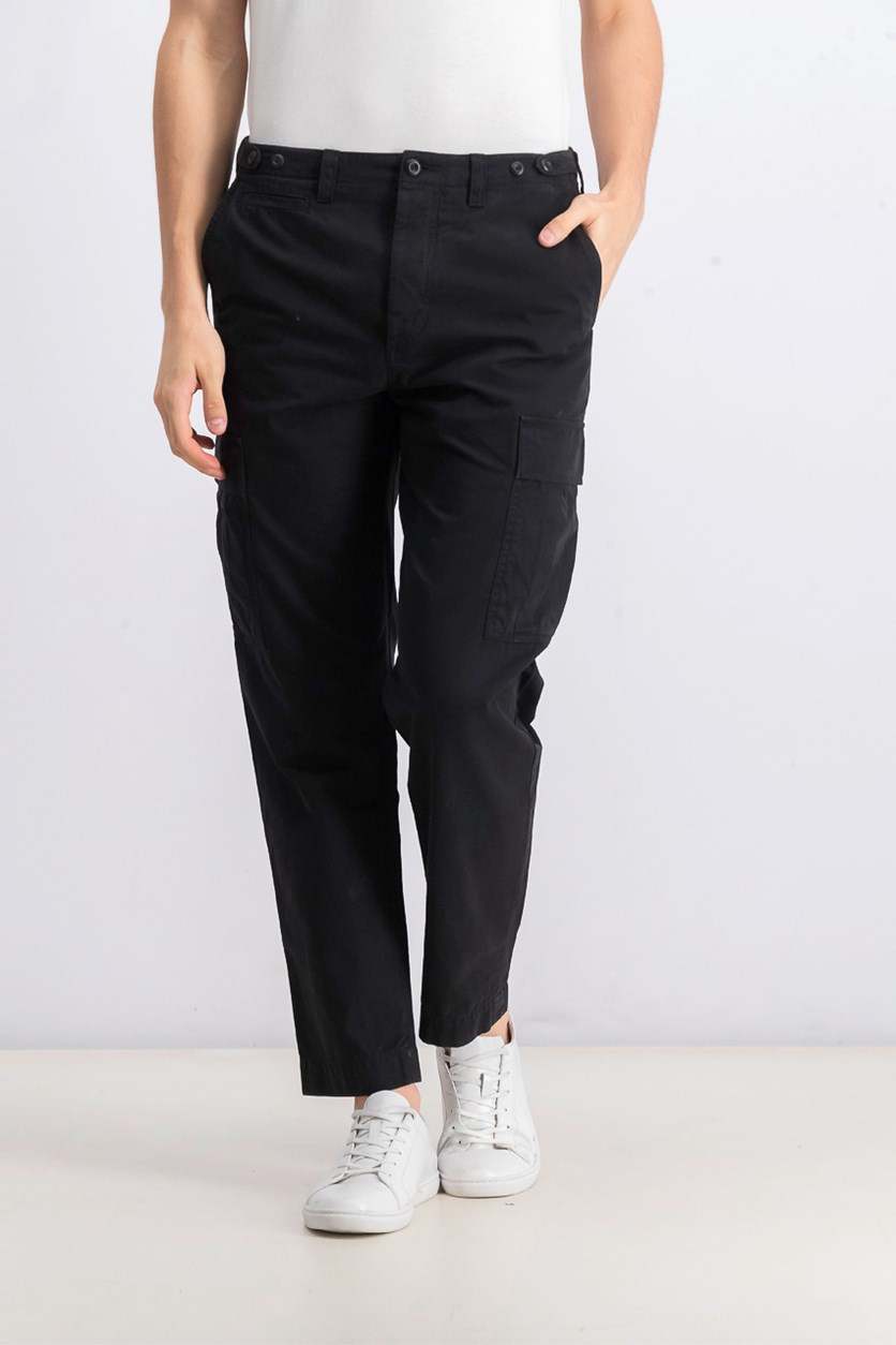 Men's Broken Twill Trousers Pants, Black