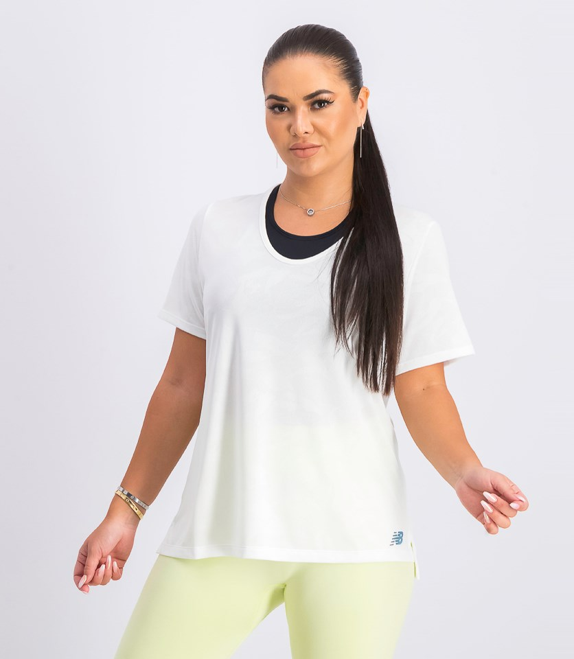 Women's Short Sleeve Top, White