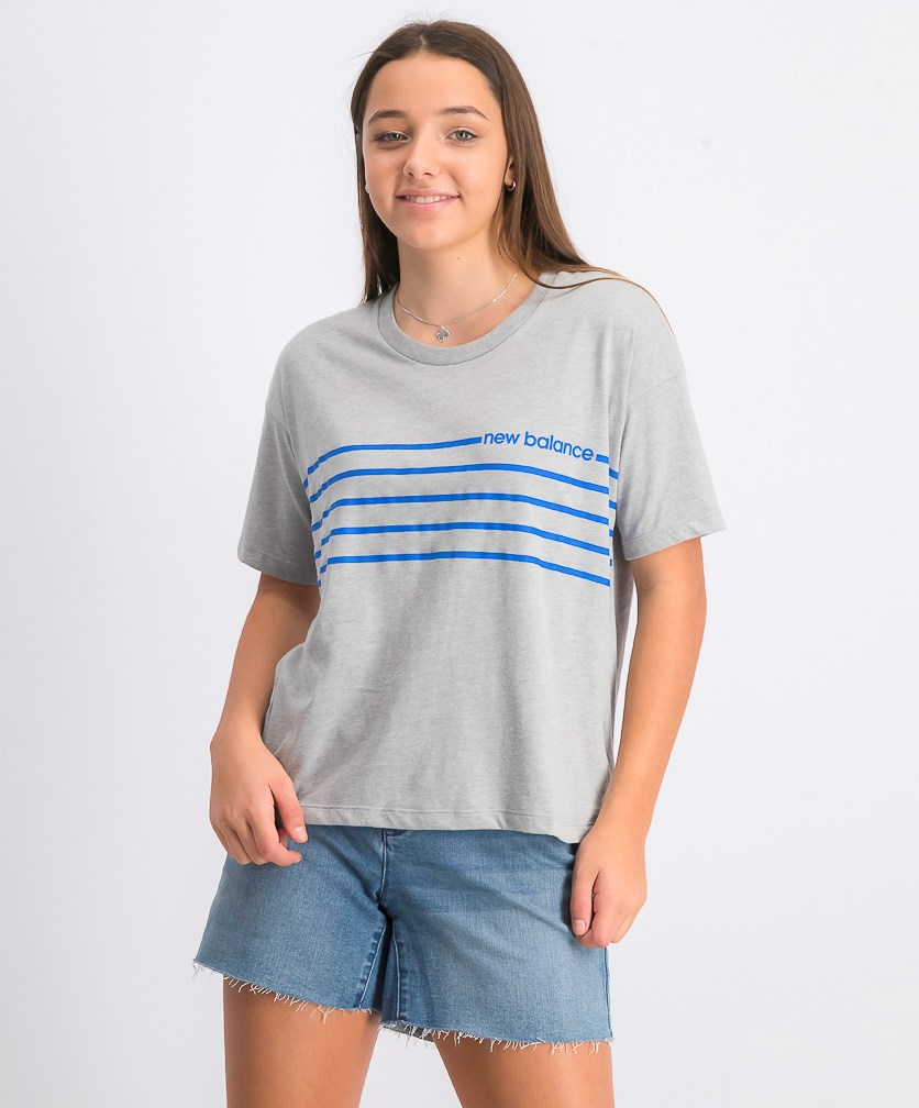Women's Short Sleeve Graphic Tee, Gray