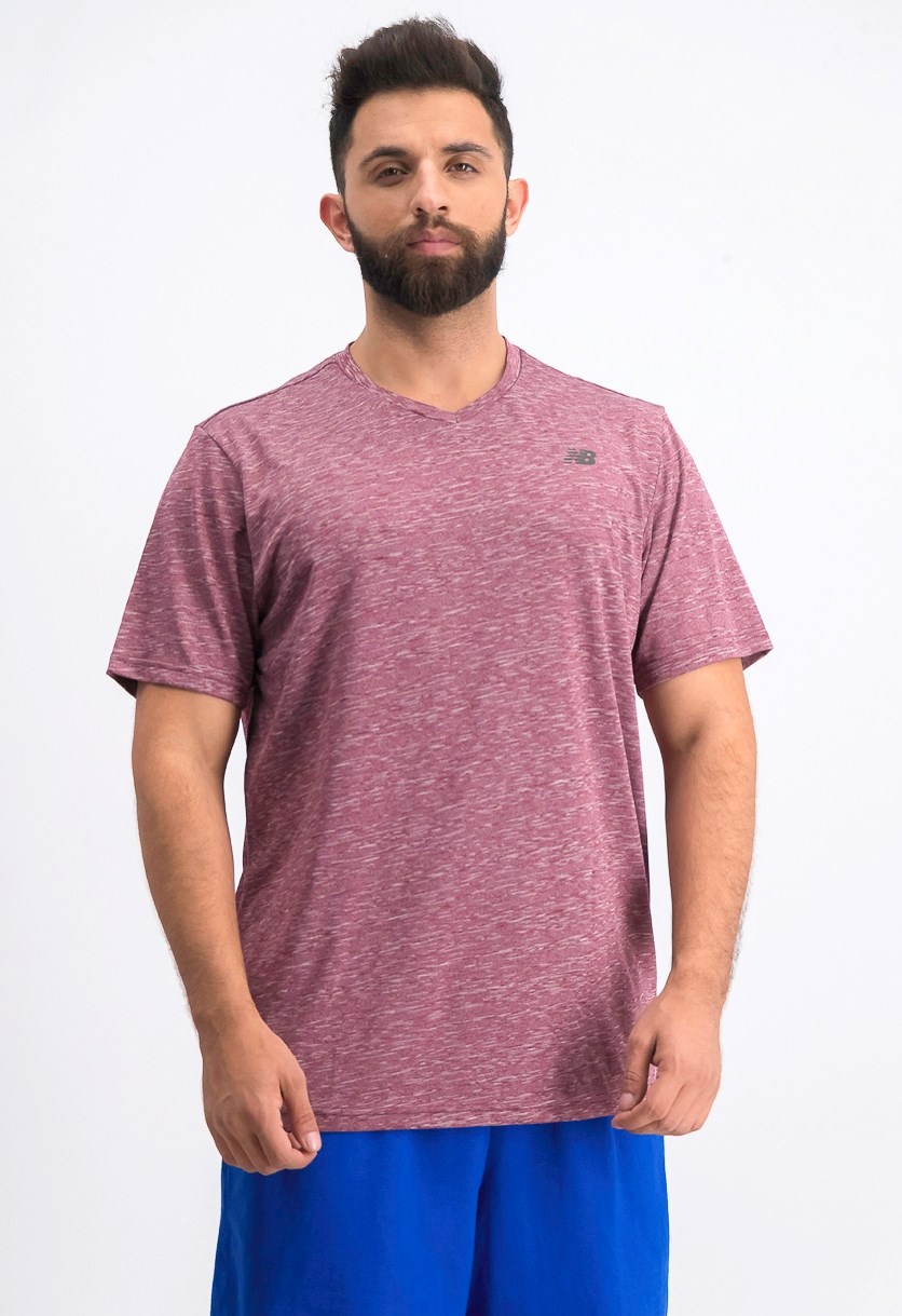 Men's Energy Novelty T-shirt, Maroon Heather