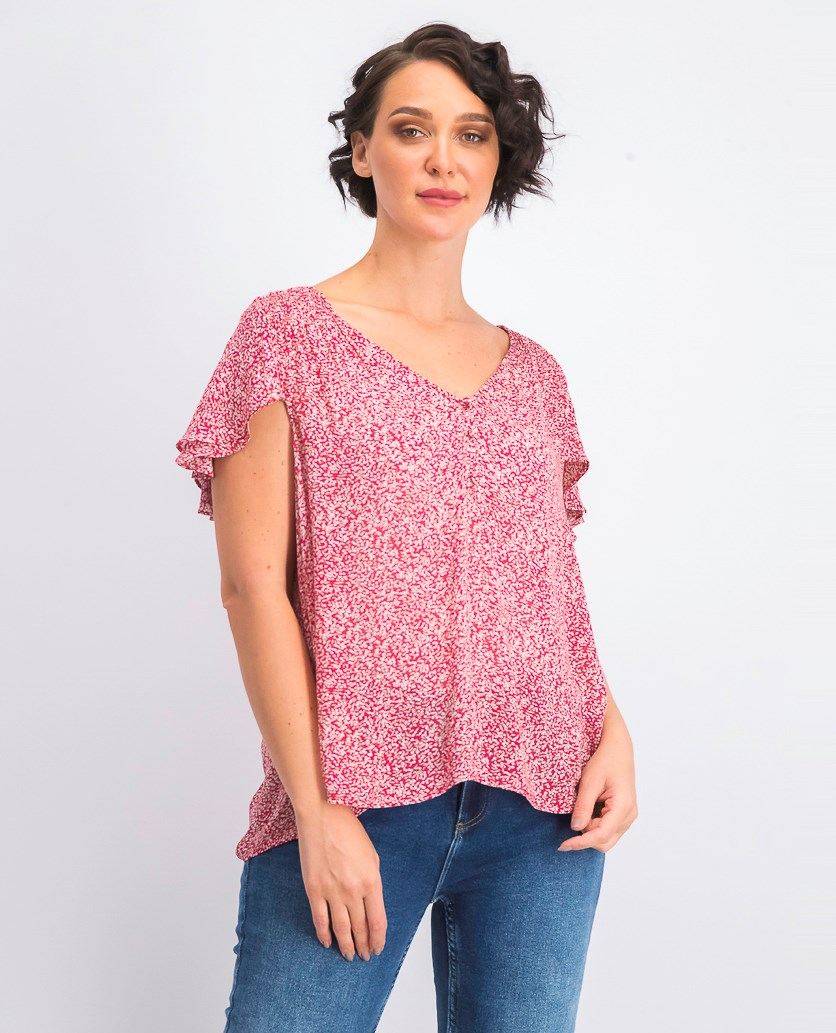 Women's Floral Top, Red