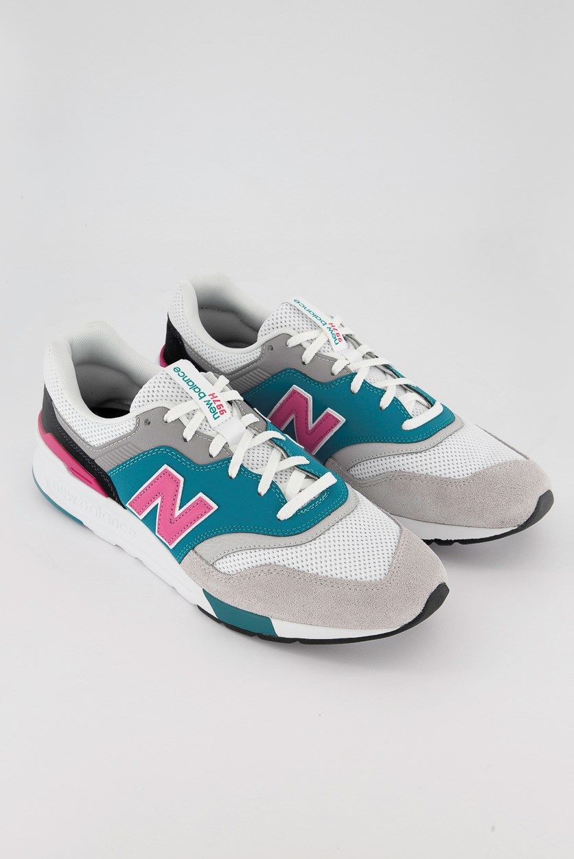 Men's 997H Sneaker, Grey/Green/Fuchsia/White