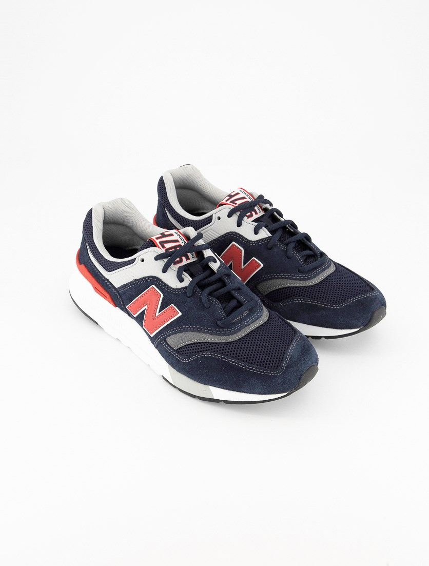 Men's Classics Traditionnels Sneakers, Navy/Gray/Red