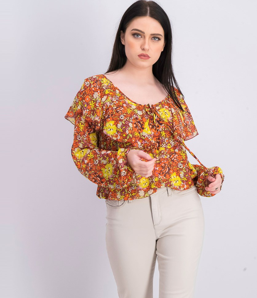 Womens Floral Tops, Coral