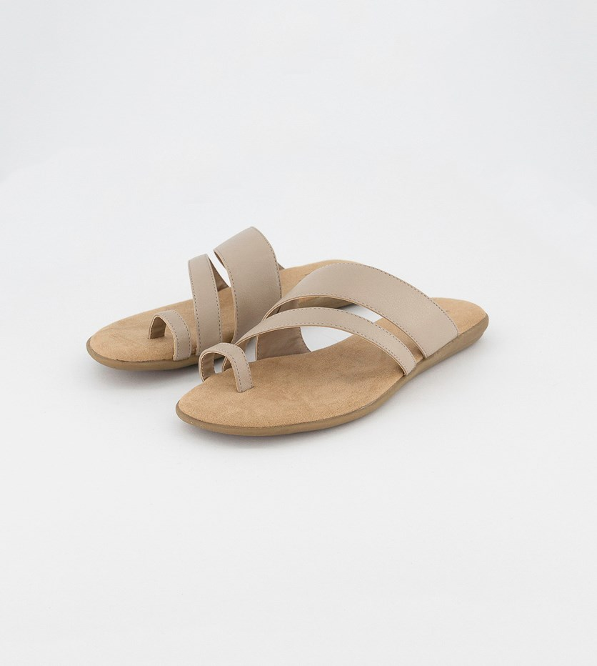 Women's Slip On Sandals, Taupe