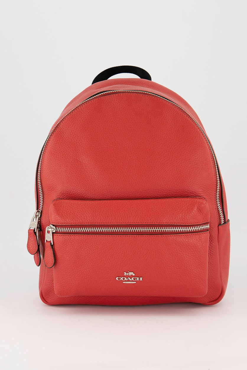 Women's Medium Charlie Backpack, Bright Cardinal