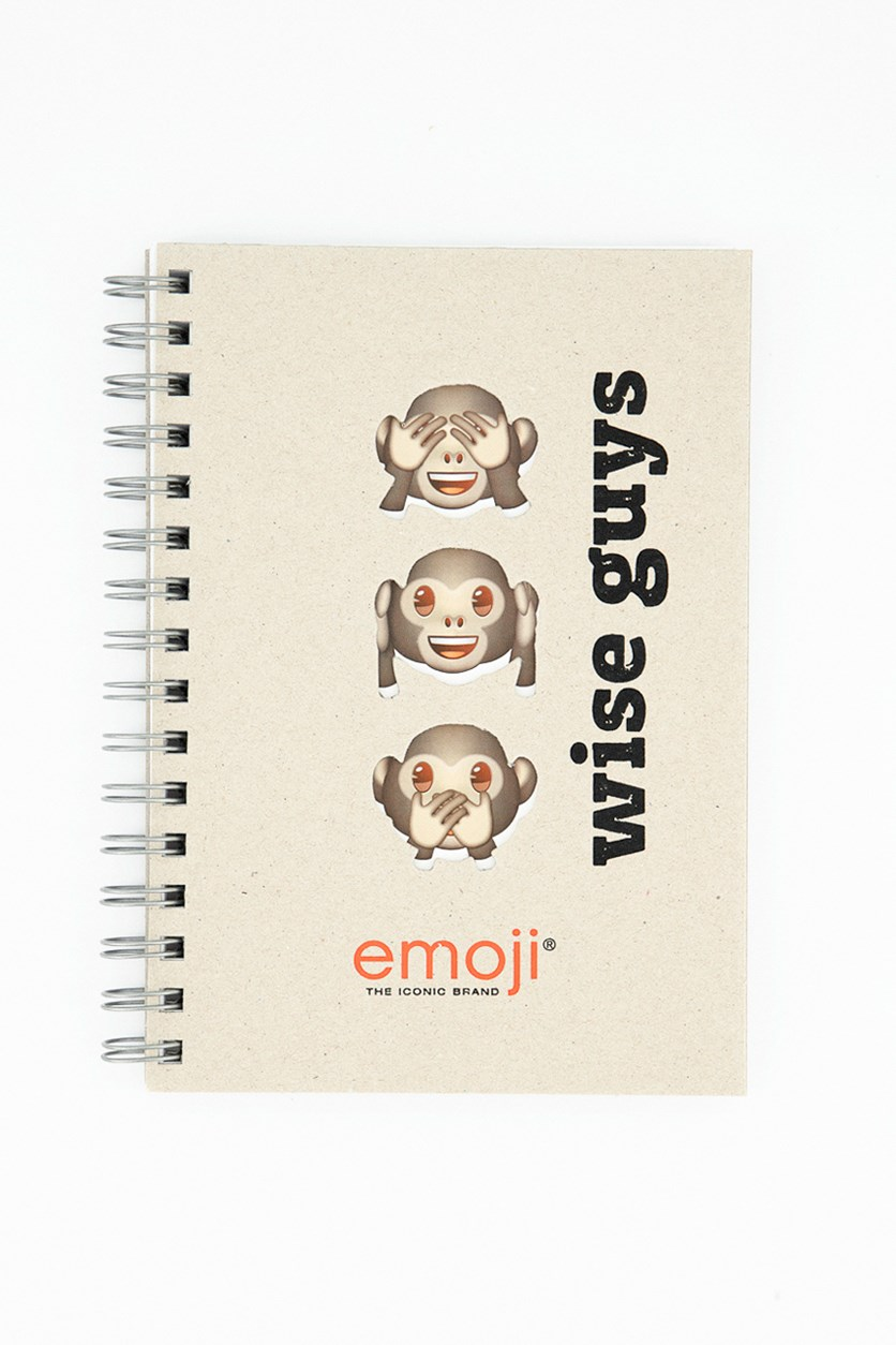 Wise Guys Wire-O A4 Spiral Notebook, Tan