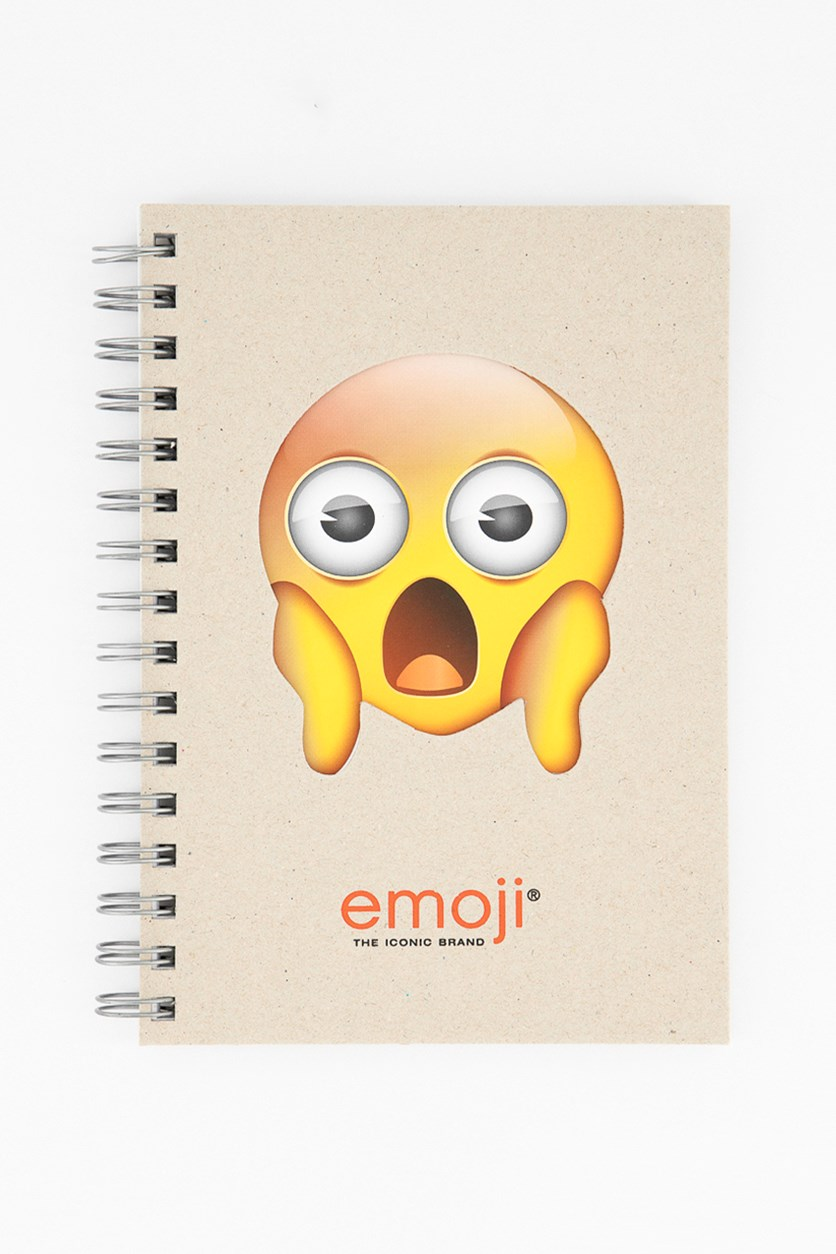 Face Screaming With Fear Notebook, Tan