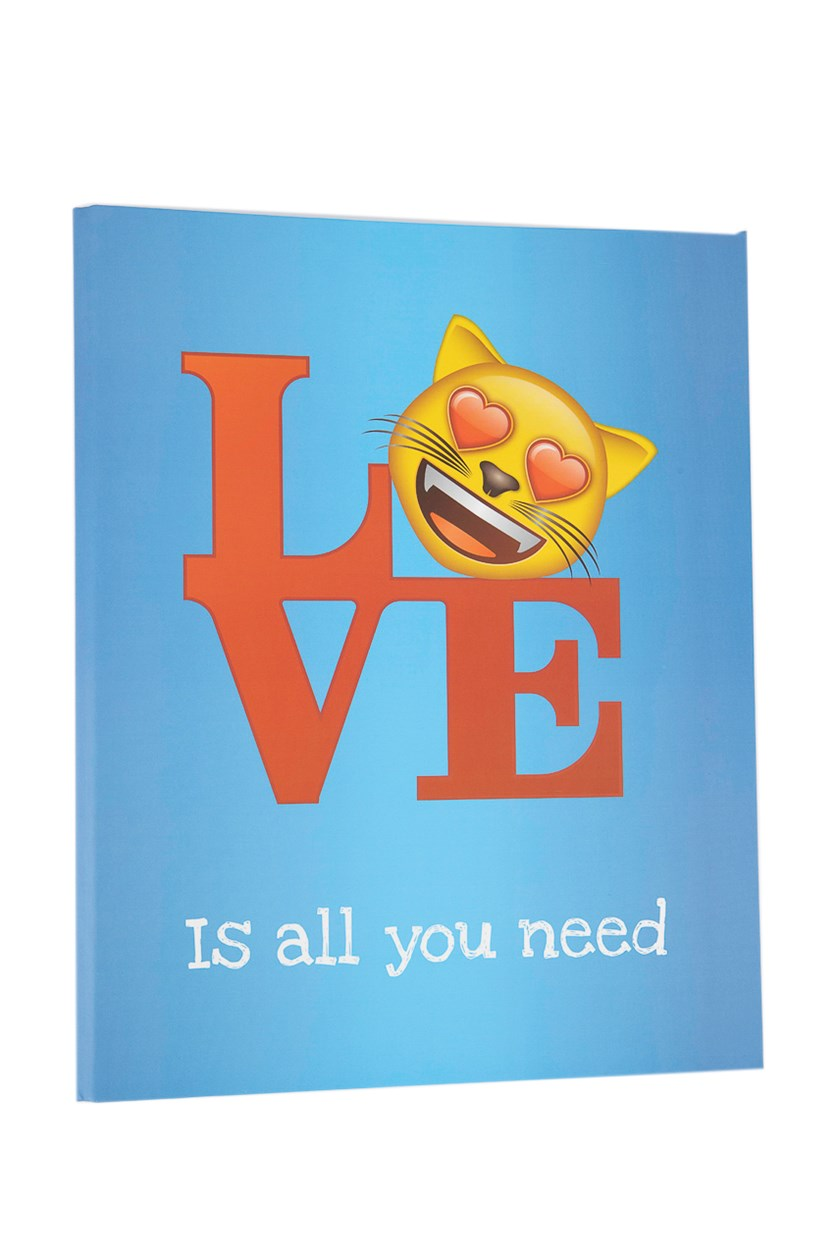 Love Is All You Need Binder Fold, Blue/White