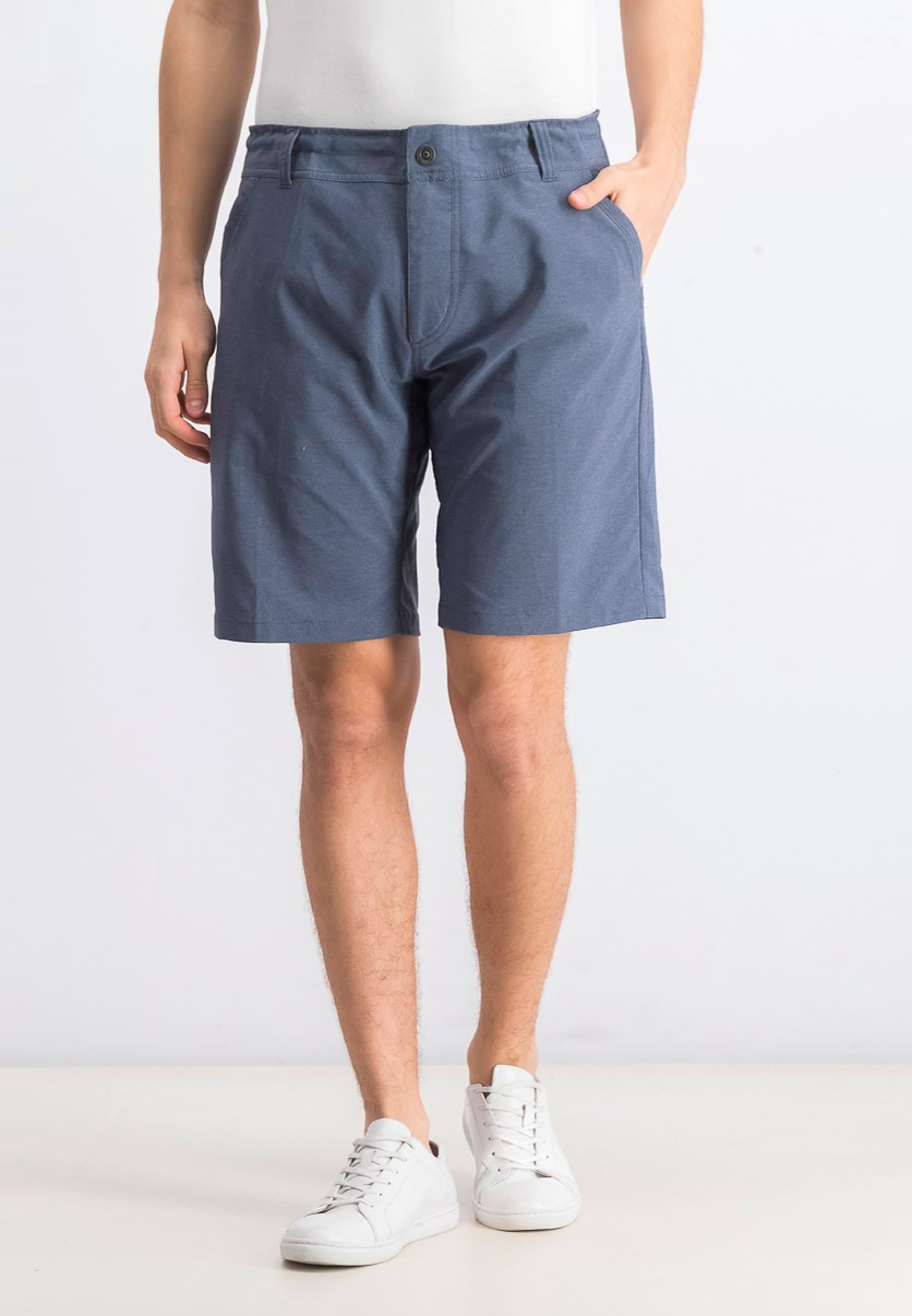 Men's Heathered Short, Denim Blue