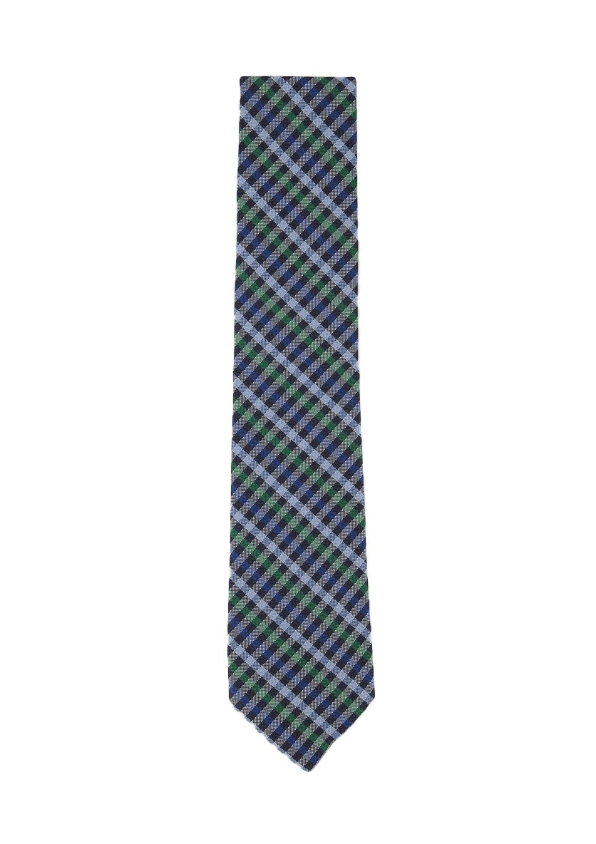 Men's Classic Plaid Silk Tie, Evergreen