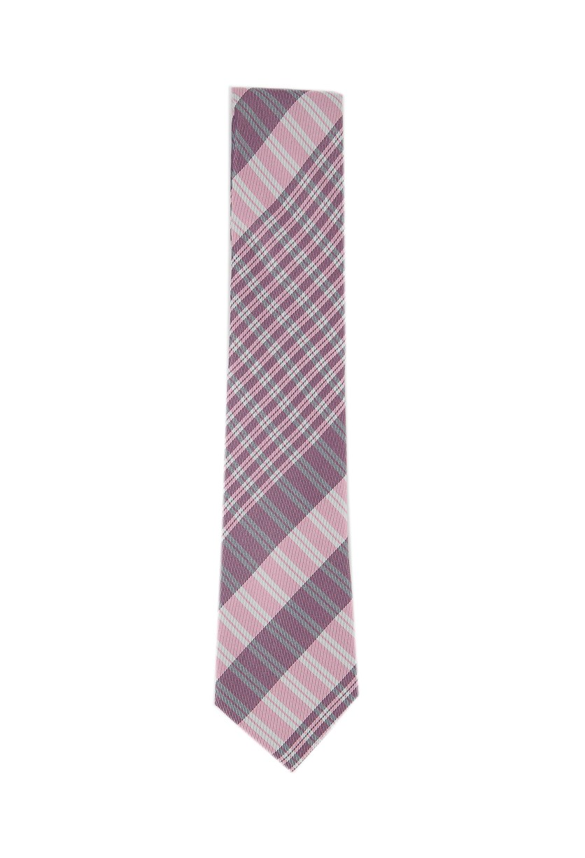 Men's Exploded Plaid Silk Tie, Pink