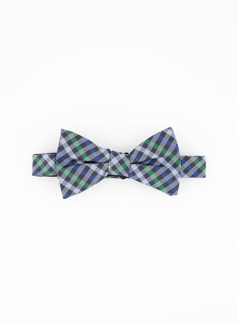 Men's Whale Bow Tie, Evergreen