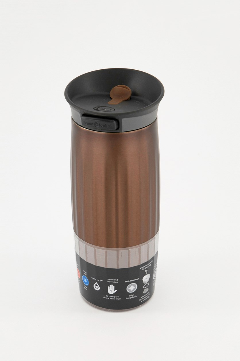 Stainless Steel Fluted Thermal Tumbler, Brown