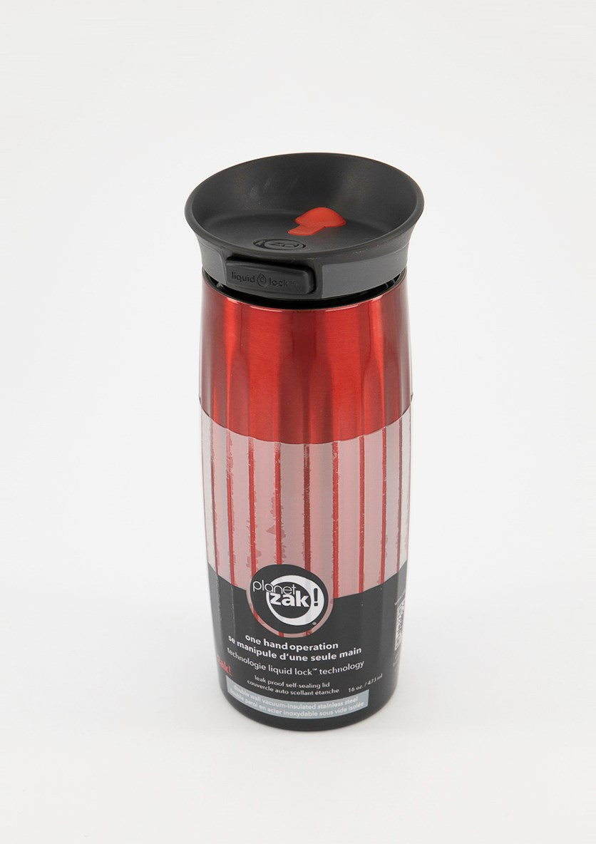 Stainless Steel Fluted Thermal Tumbler, Red