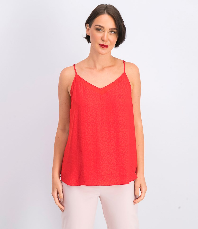 Womens Textured Tank, Red