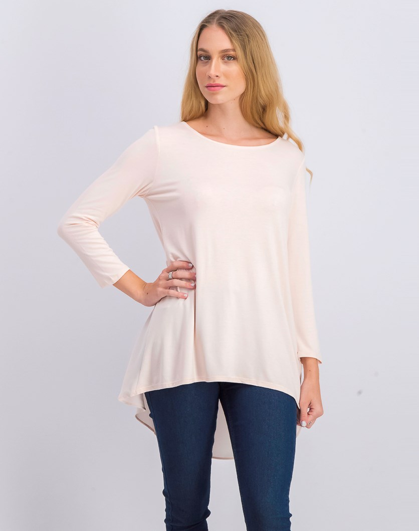 Womens Woven-Back Top, Silver Peony