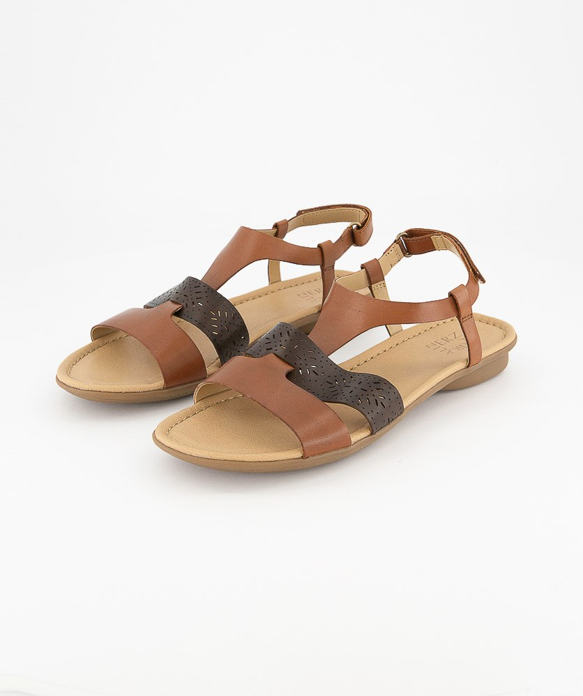 Women's Westly Leather Sandal, Brown