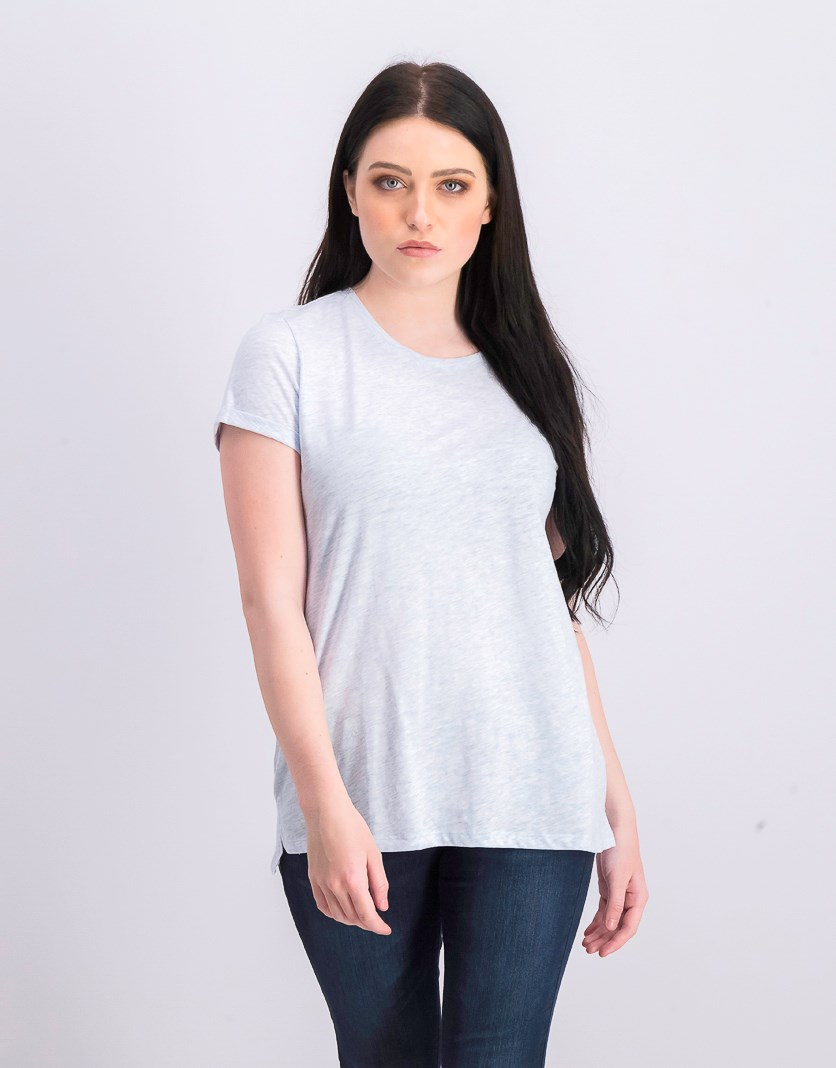 Women's High-Low T-Shirt, Blueberry Mist