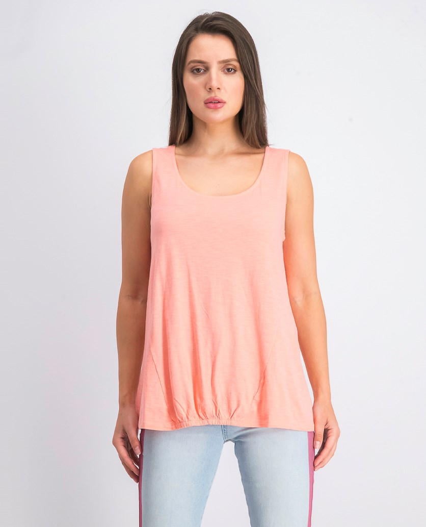 Women's Scrunch-Front Tank Top, Peach Berry