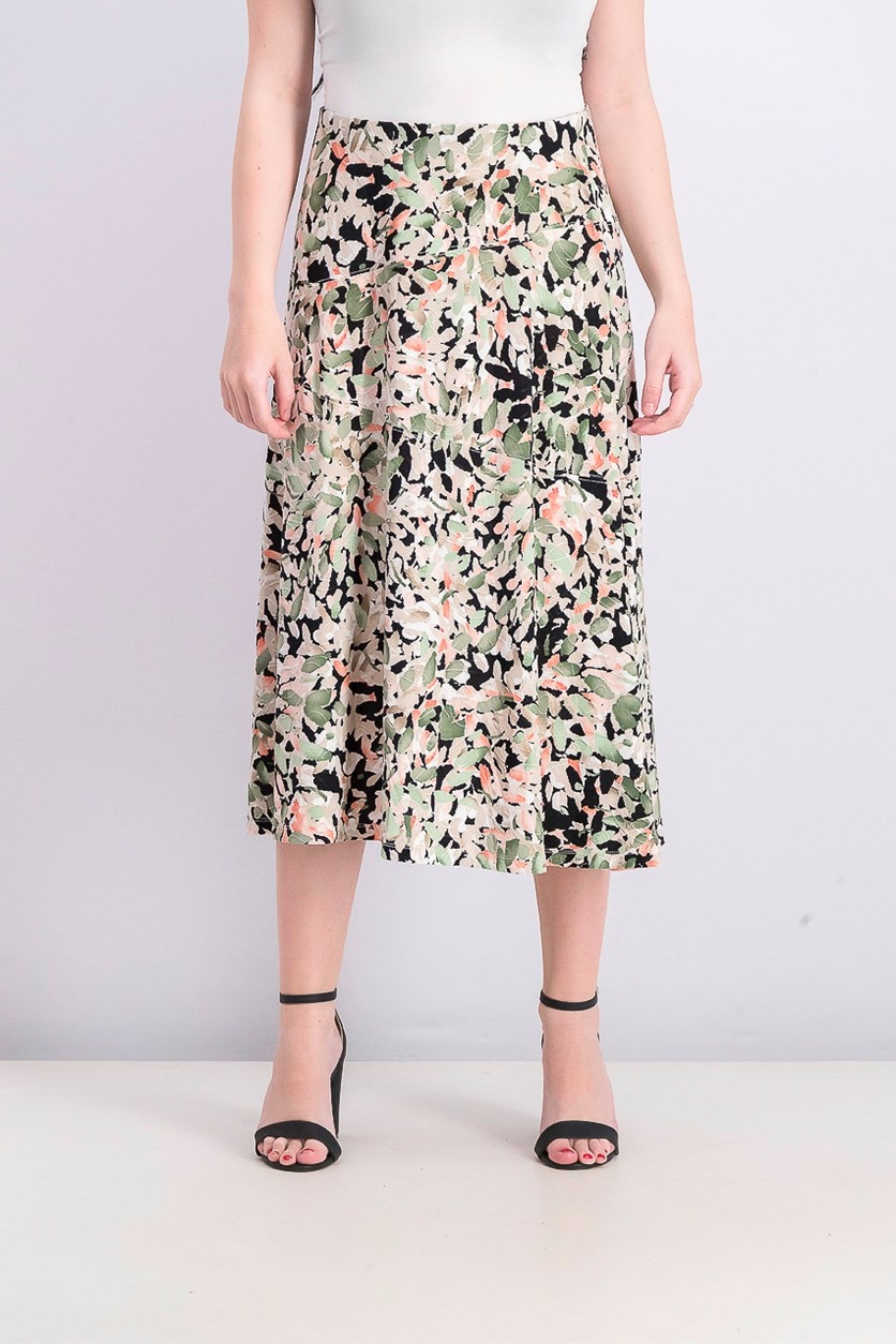 Women's Printed Jacquard Skirt, Geometric Burst