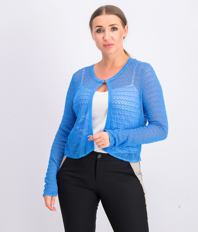 Women's Textured Shrug, Blue