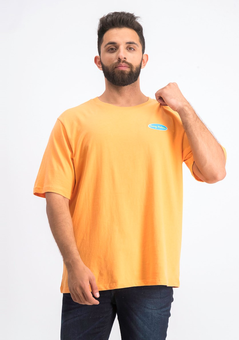 Men's Graphic T-Shirt, Orange Combo