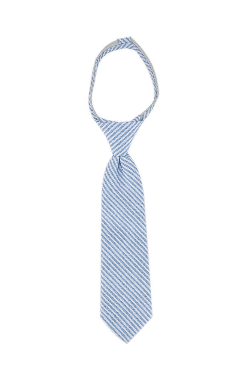 Kids Boys Stripe Neck Tie, Blue/White