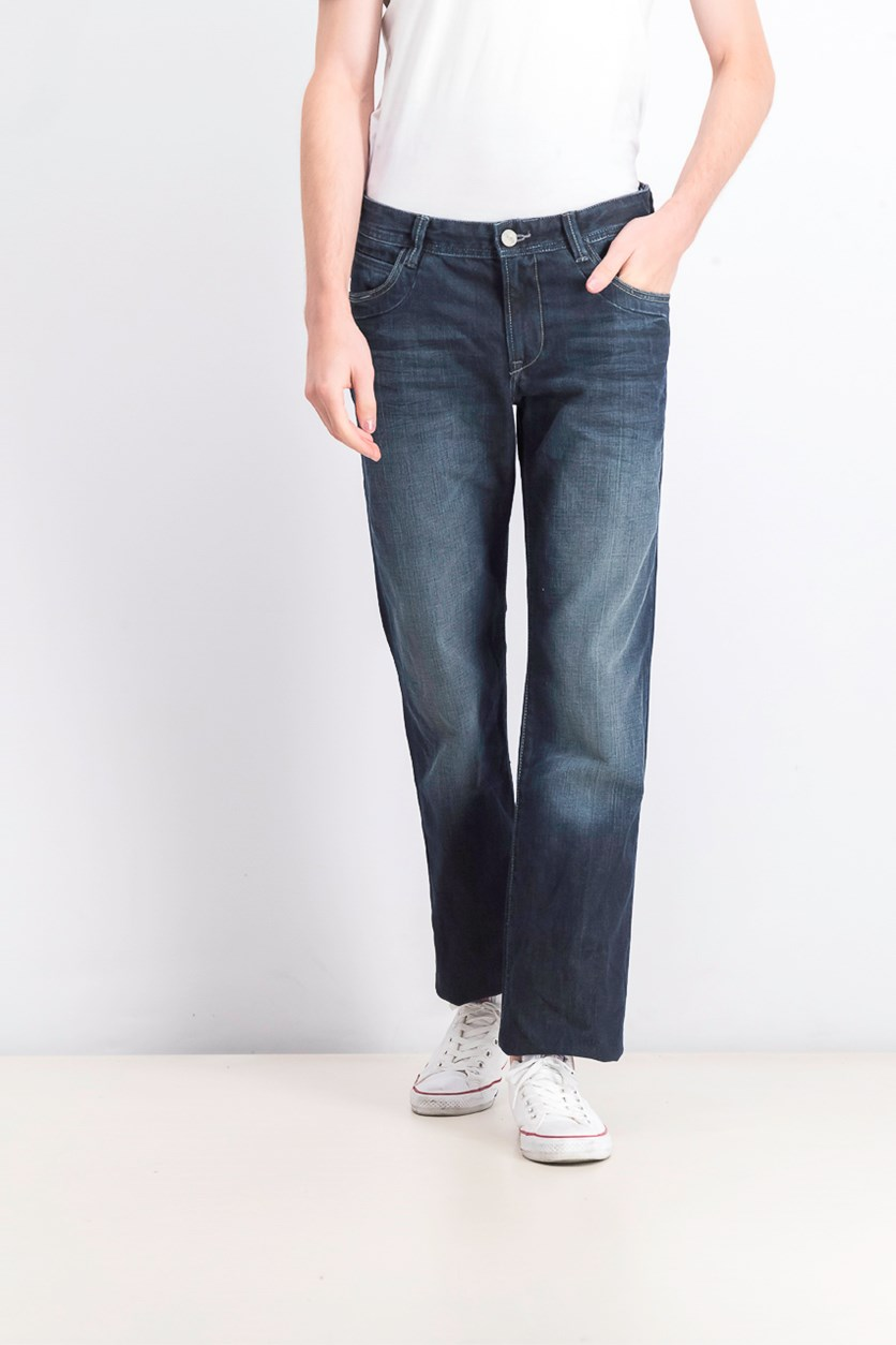 Mens Pull On Jeans, Was Blue