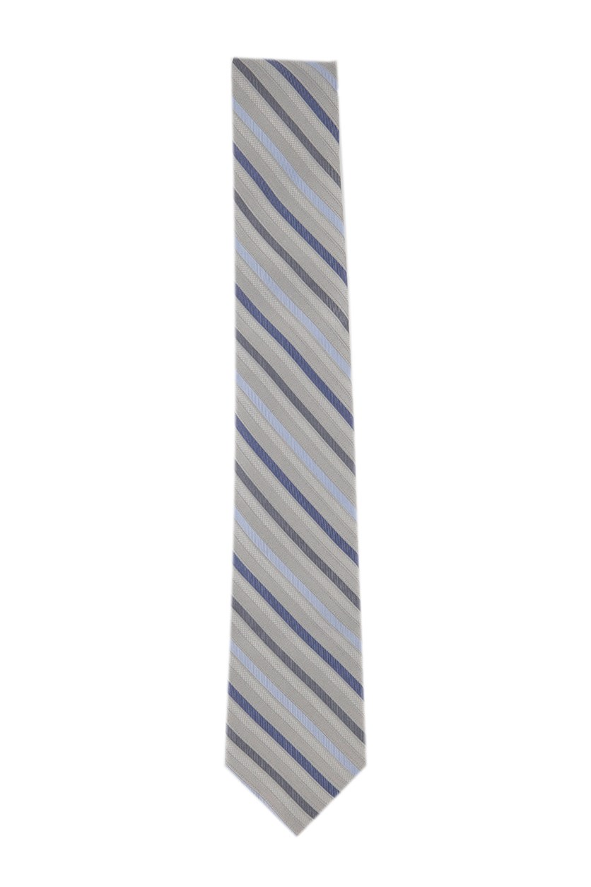 Boys' Gemstone Stripe Tie, Grey Combo