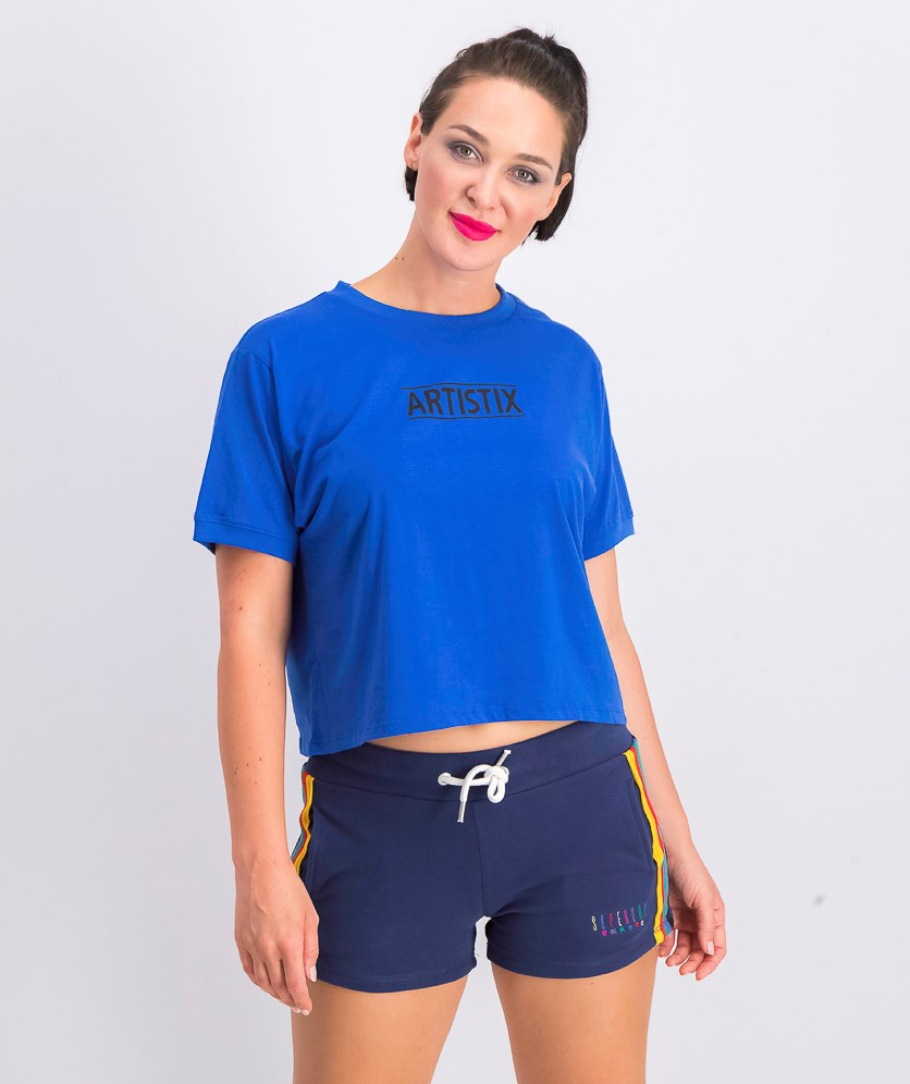 Women's Logo Graphic Cropped Top, Blue