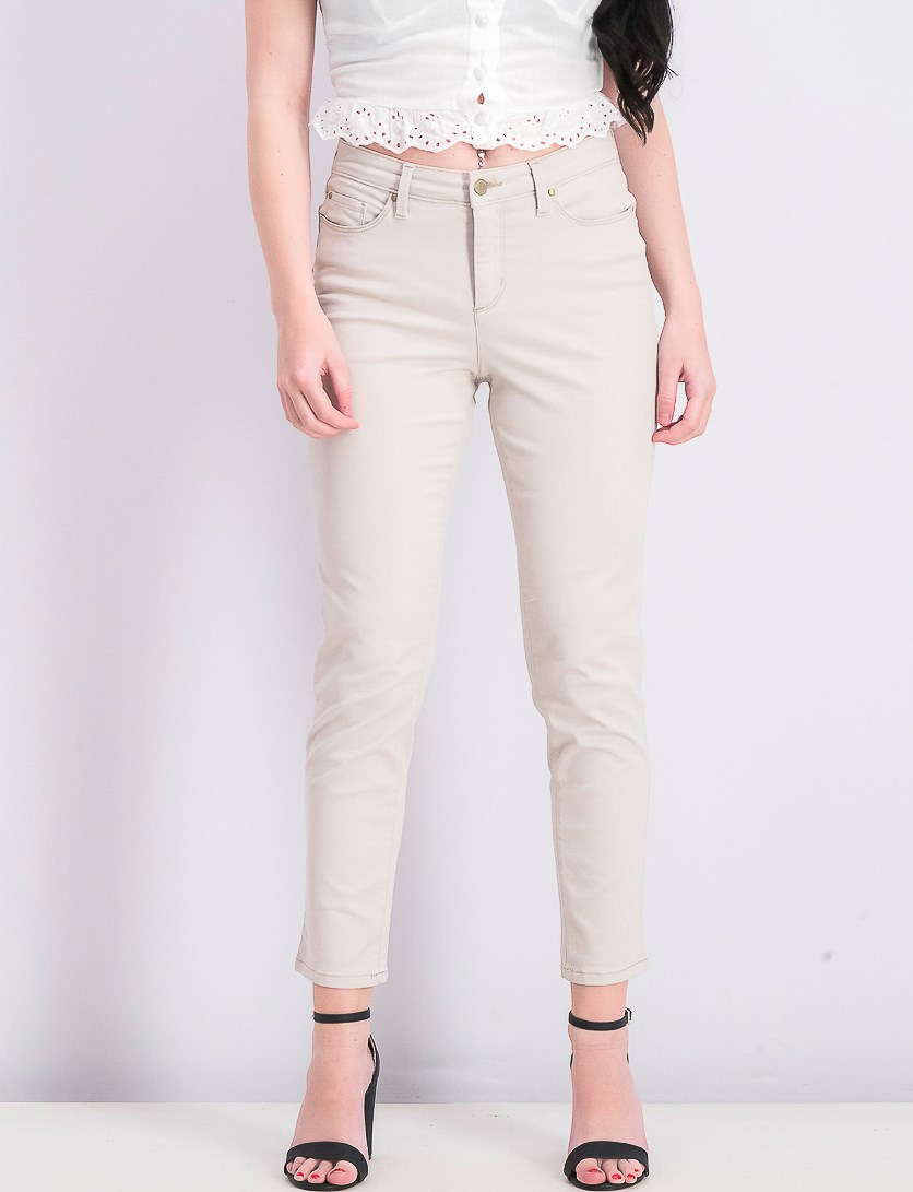Womens Colored Skinny Ankle Jeans, Cream Stone