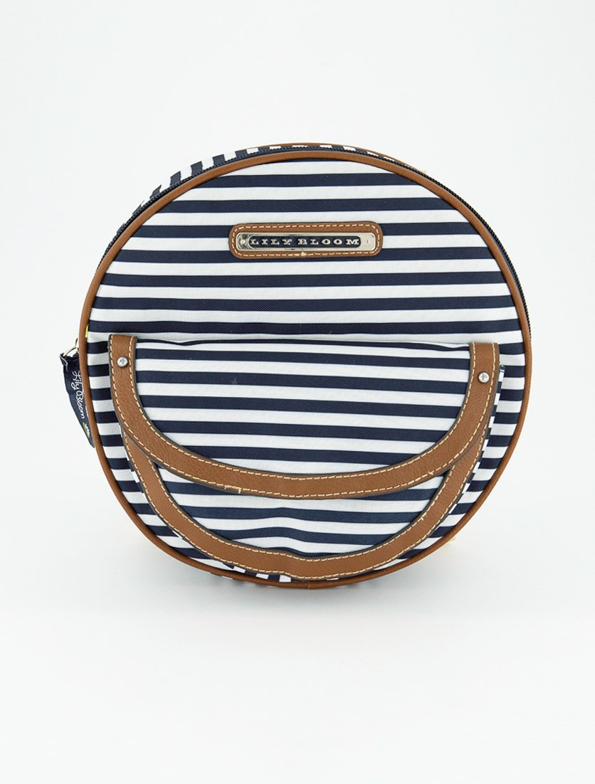 Women's Rebecca Convertible Backpack, Navy Stripe