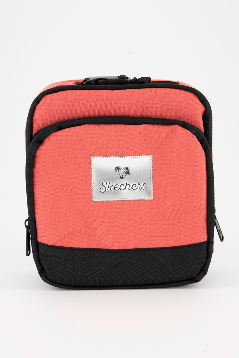 Girl's Color Block Lunch Bag, Black/Pink/Silver