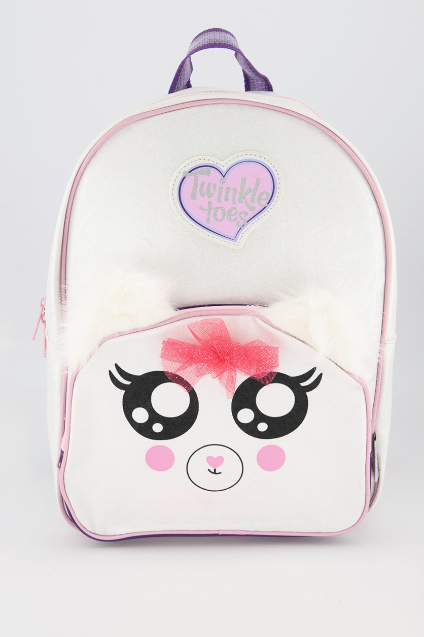 Girl's Twinkle Toes Backpack, White Combo